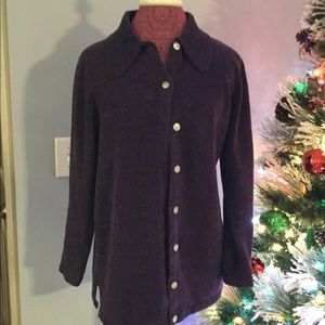 Denim& CO. Purple sweater size S